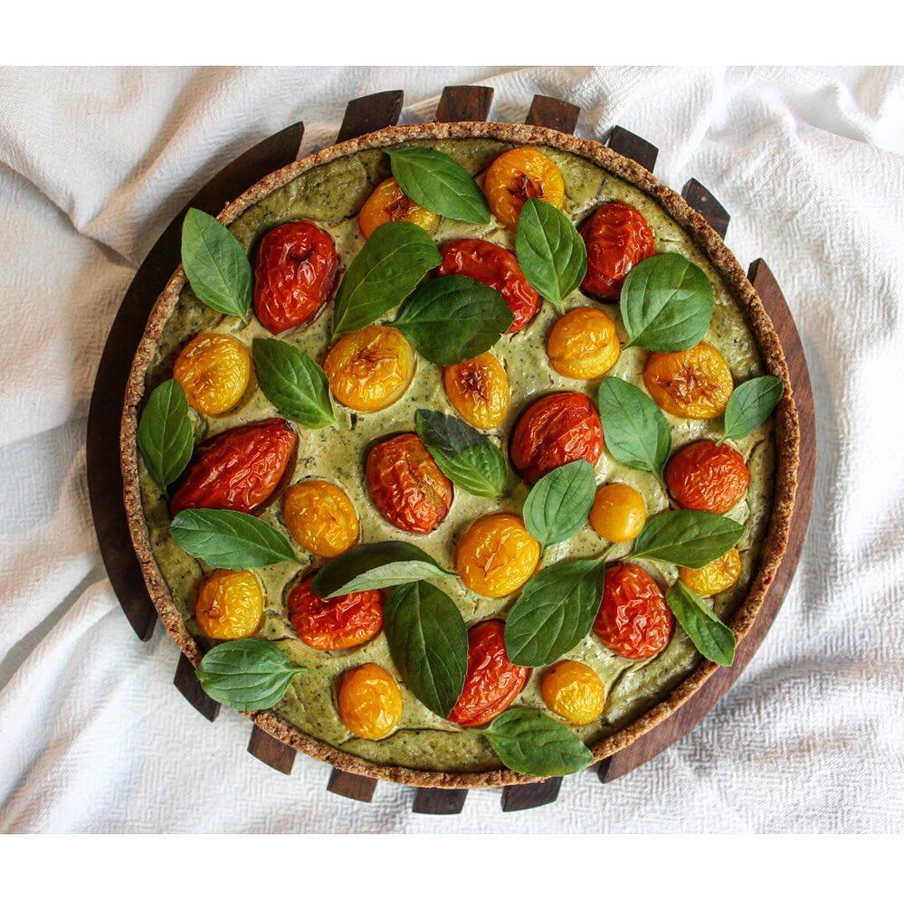 Torta de tomates orgânicos