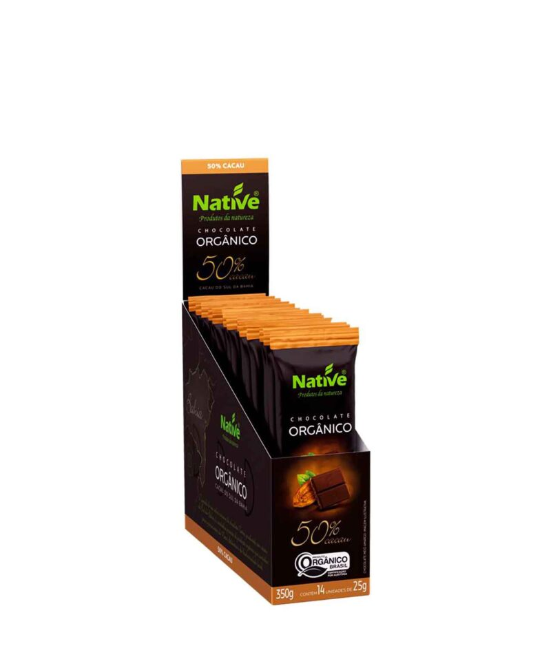 Chocolate 50% Cacau Orgânico