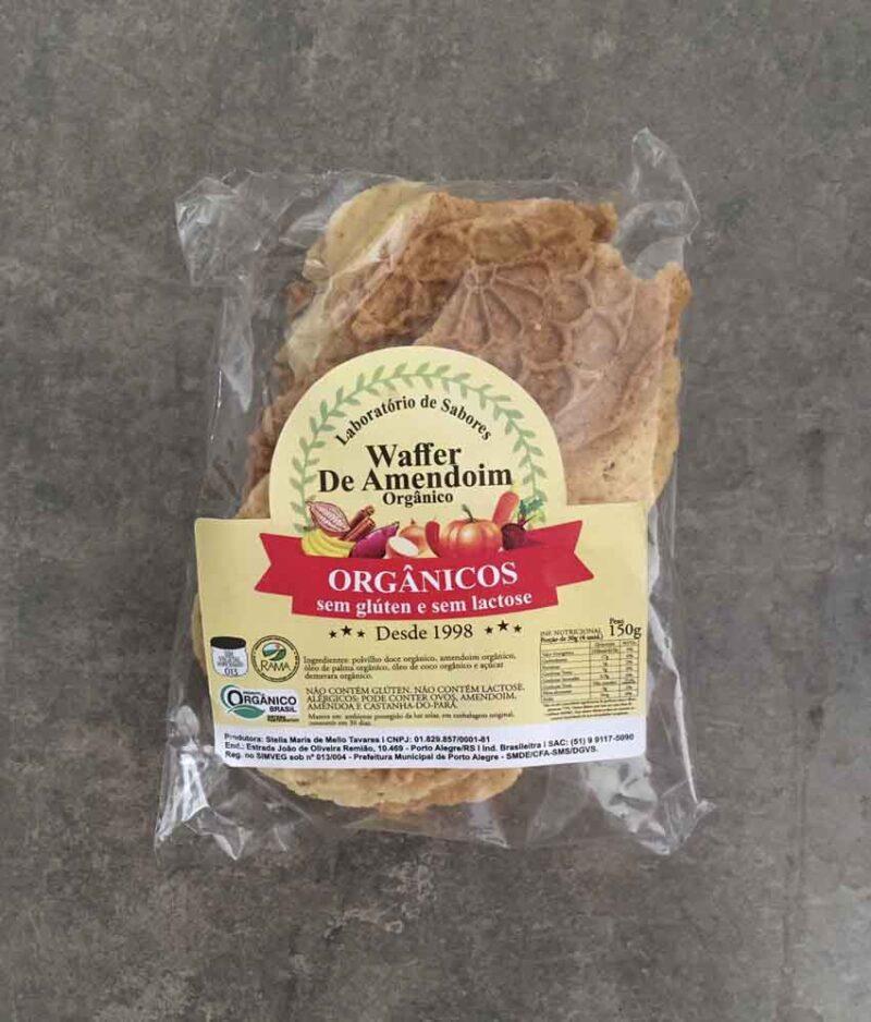 Waffer de Amendoim Orgânico