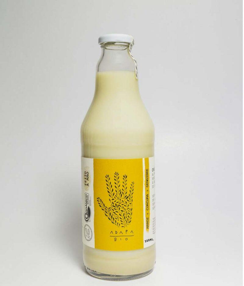 Bebida Vegetal de Arroz com Cúrcuma e Gengibre Orgânico