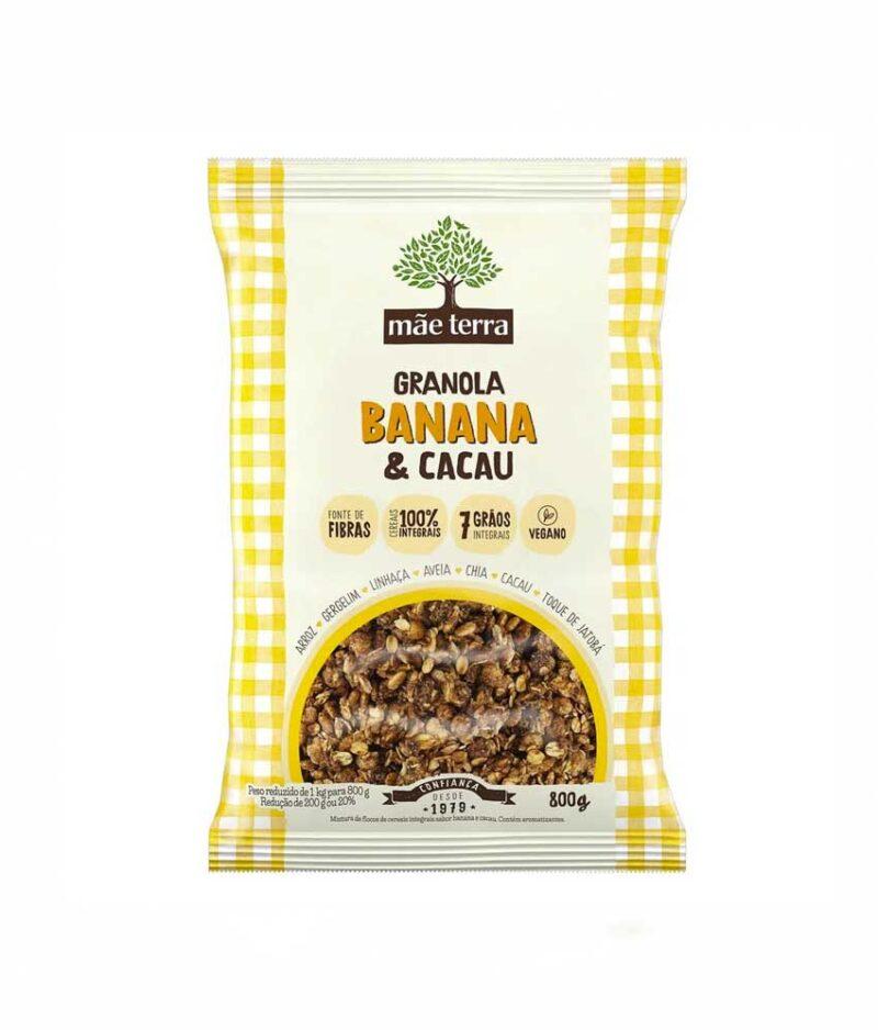 Granola Banana e Cacau Orgânica