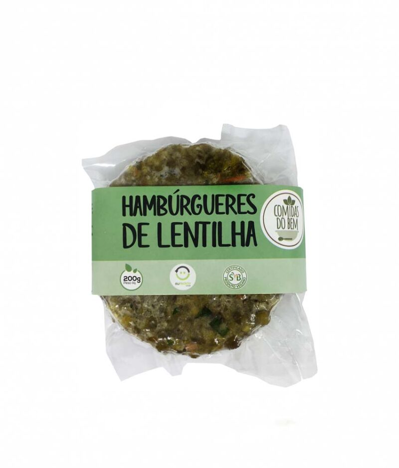 Hambúrguer de Lentilha Orgânico